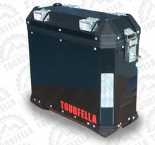 Motorcycle side box 35L for any types of motorcycle/Black, Aluminum