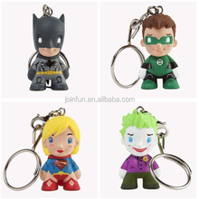 make 3d custom shape superhero vinyl figure Keychain,custom make 3d superhero shape vinyl figure keychain toys