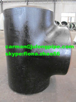 Hot Sale carbon steel ASTM A234 wpb Reducing tee sch40