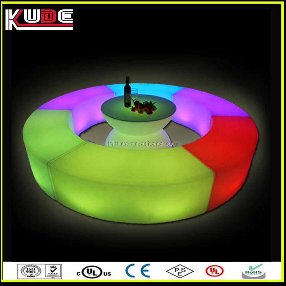 LED 야외 조명 가구 직접 공장 공급 가구/곡선 야외 벤치-바 스톨 ...