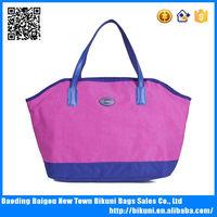 Nylon fashion online design red bag waterproof women red handbag