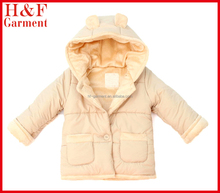 girls winter puffer jacket with cotton fleece lining for casual wear