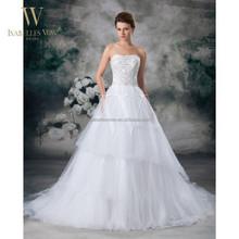 2015 China custom made fluffy wedding dresses