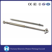 VIC Factory Price OEM Pole Line Hardware Stay Rod Manufactuer Hot dip galvanized Adjustable Turnbuckle Stay Rods