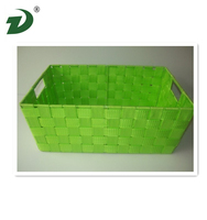 new arrived recycled paper rectangular woven large storage baskets with lids