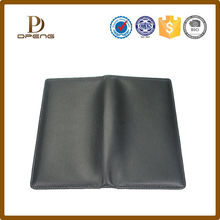 Black high quality Leather purse leather folder for business