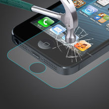 Factory price 9H anti clear screen protector for iphone 5 anti-shock tempered glass screen protector