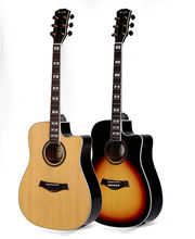 Enya guitar E18 Series Nature Color Top and back side is AAA grade wood and beautiful imported acoustic guitar