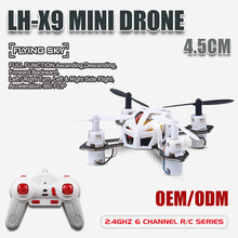 LH-X9 Word Smallest 4.5CM RC Quadcopter 2.4GHz 6 Axis Micro Mini Nano Pocket RC Drone with Three Speed Model