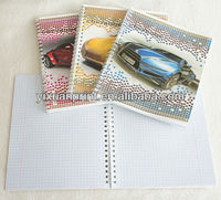 customized spiral notebook with dividers