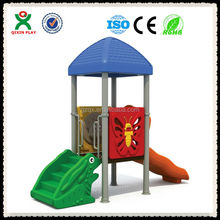 CE certified play school playground equipment/aqua park water games/plastic slide popular/outdoor playground swings QX-15801