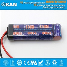 KAN Ni MH 8.4V 7x2/3A 1100mAh rechargeable battery or akku pack for rc toy, nitro rc car,gun, boat, helecopter
