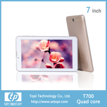 Android 5.0 system 7 inch IPS screen tablet pc with plastic back case