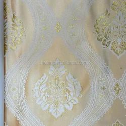European style curtain of 100% polyester window curtain grommet metallic yarn jacquard curtainEuorp
