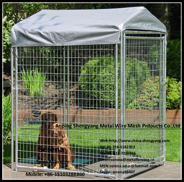 Portable Dog Run : Hot galvanized wire mesh fence outdoor portable dog runs