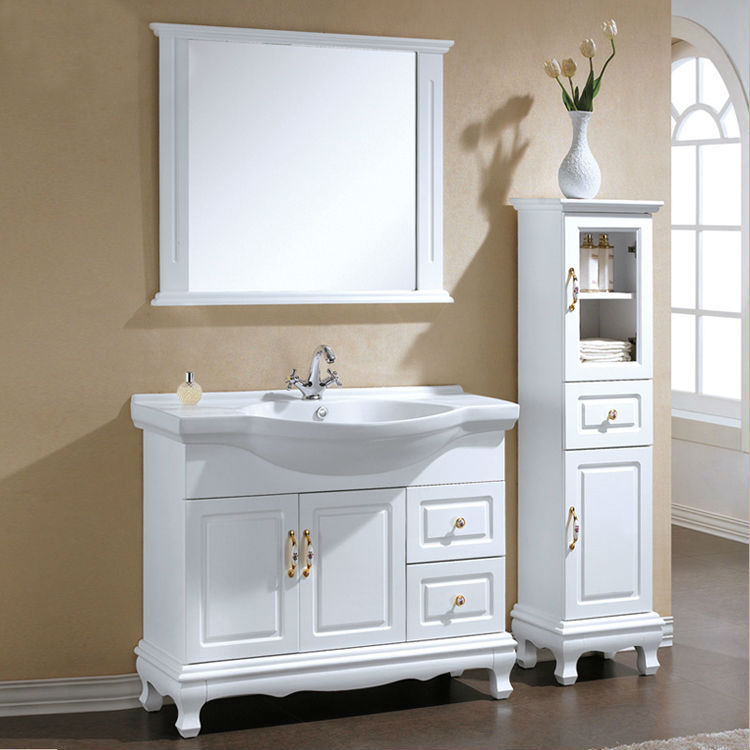 european style furniture standing bathroom cabinet