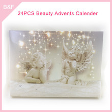Chrismas cosmetics makeup set Adventage Angel promotional calendar for gift sofeel natural bristle face brush
