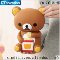 Best sell gift teddy bear plastic wholesale piggy bank