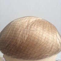Elegant-wig natural looking silicone toupee, long blonde human hair wig high quality