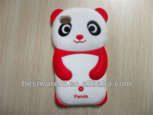 Pande silicon rubber case for Iphone4 5s with panda shape