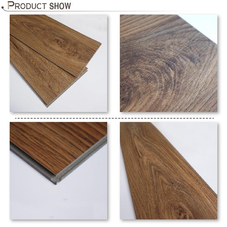 Wood grain 5mm click vinyl tiles pvc flooring buy pvc for Wood grain linoleum flooring