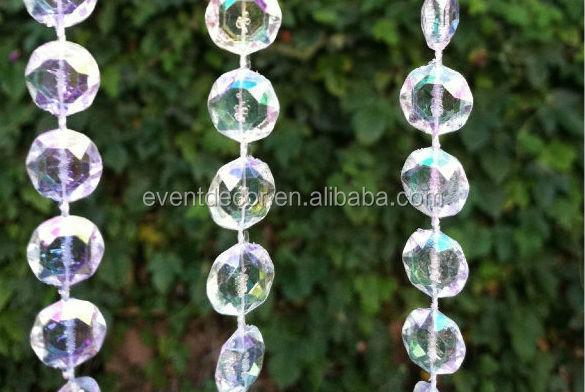 iridescent acrylique cristal perles de rideau cristal perles rideau pour mariage et d coration. Black Bedroom Furniture Sets. Home Design Ideas