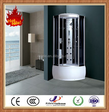 one person comfortable tempered glass ABS tray massage shower room with panel