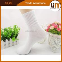 Men White Polyester Sublimation Blank Socks thin cheap cotton men ankle socks
