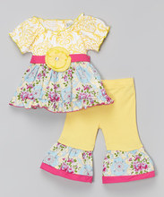 The royal western girls outfit style boutique top and pants ruffle outfit for kids with waistband sets for lovely baby girls
