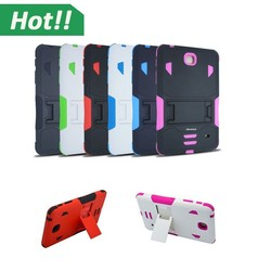 """NEW arrival 3 in 1 Hybrid Rubber Rugged Combo Matte Shockproof Tablet Case Cover For Samsung Galaxy Tab 4 7"""" T230 T231 T235"""