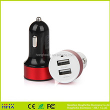 computer accessories metal car charger adapter 2.1a with fuse for laptop