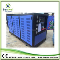 Security Protection CE Certification 50KW 15HP 14TON Manufacturing Water Cooled Chiller Company Pakistan