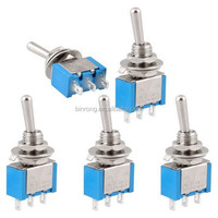 Manufacturer Quality ON-OFF 2 Position SPDT Self Locking Toggle Switch with Grey Epoxy Dot