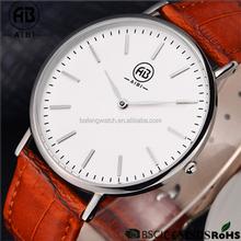 custom nylon low moq rose gold logo japan movt stainless steel back super thin watch