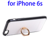 New Arrival Grid PU Skin TPU Protective Case for iPhone 6s with Ring Holder