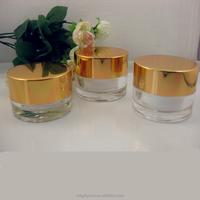 popular cream jar aluminum cap plastic cosmetic pot