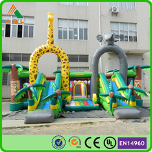 Jungle giant inflatable fun city, inflatable bounce castle, inflatable castle with slide hot sale