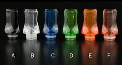 Different kind material 510 drip tip supplier ,glass /silicone /acrylic /ceramics/plastic/aluminium nice delrin 2 puff drip tip