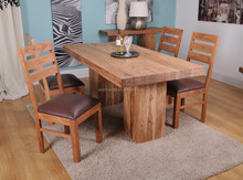 Modern Acacia Large Solid Wood Dinning Table for Restaurant