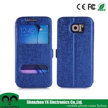 smart window flip cover case for samsung galaxy cover
