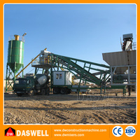 portable mobile concrete batching plant for sale