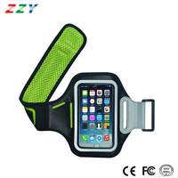 Mobile phone accessories support bank card hold pocket neoprene sport armband for Iphone 6 plus
