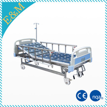 EMB-58 Adjustable Ward Bed With Three Revolving Levers,Patient Ambulance Sickbed, manual bed for hospital