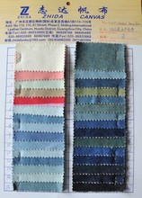 popular cotton twill Japanese denim fabric for jeans, washed denim