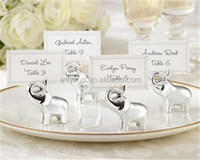 100pcs Lucky Silver finish Elephant Place Card holder Baby shower favors DHL Freeshipping