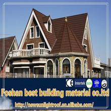 High Quality Acrylic Priming System Color Granule Roofing Tiles, Stone Coated Metal Roof,