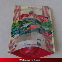 printed heat seal safe plastic packing bag for nuts