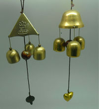 "12"" antique wind chime made of iron ,bronze and gold plating finish, suitable for doors/decoration (A566)"
