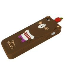 cute bear animal silicone mobile case for iphone cover