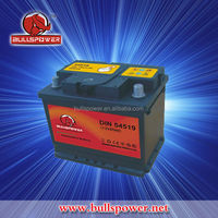 Din standard 12v dry charged auto batteries in 45ah